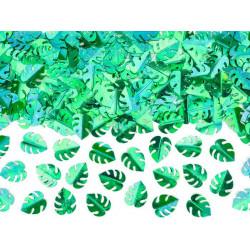 Confettis vert métallisé feuilles tropicales 15 g Déco festive KONS8-012