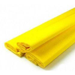 Feuille de crépon jaune 2.50 m Déco festive 25044JA