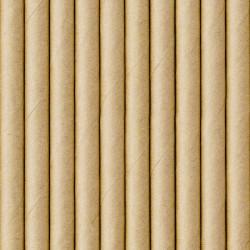 Pailles papier kraft x 10 Déco festive SPP9-031