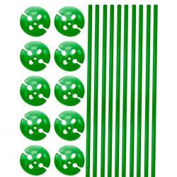 Tiges et supports de ballon vert x 10 Déco festive 04922