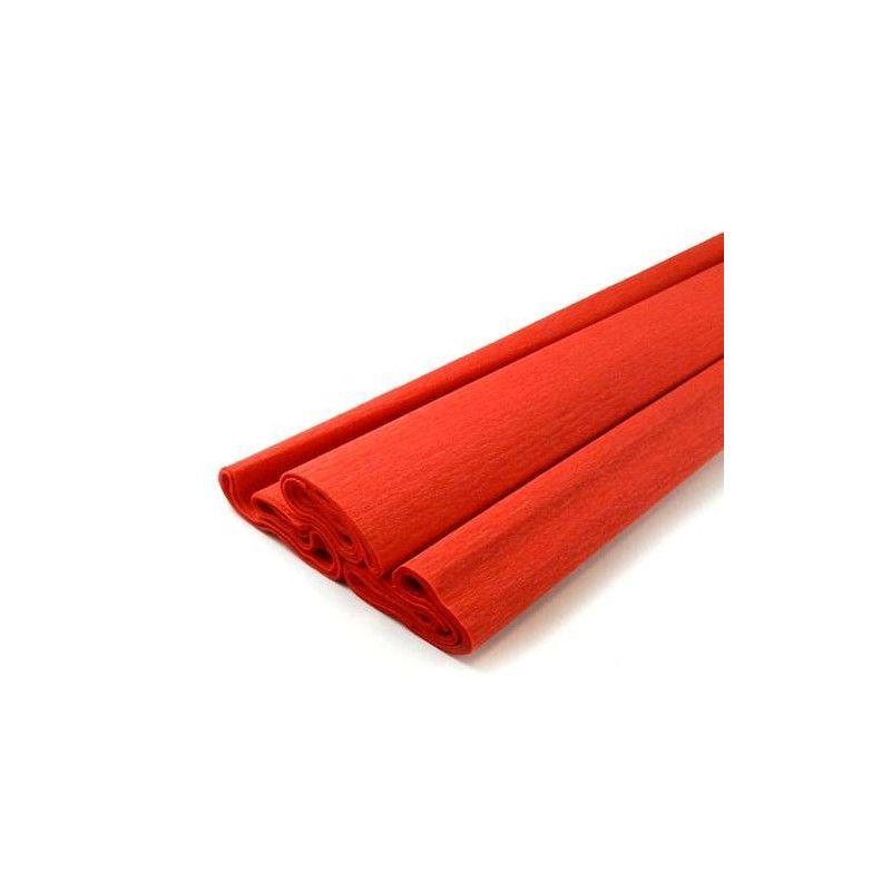 Feuille de crépon rouge Déco festive 25044RG