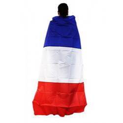 Cape de supporter France 90x150cm Accessoires de fête 25906