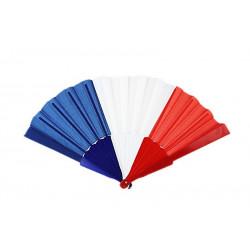Éventail tricolore bleu blanc rouge Accessoires de fête 25907