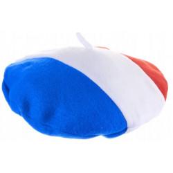 Béret feutrine tricolore France Accessoires de fête 25915
