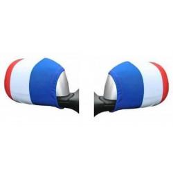 Paire de housses tricolores rétroviseurs voiture France Déco festive 25923