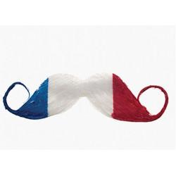 Moustache supporter France bleu blanc rouge Accessoires de fête 25924