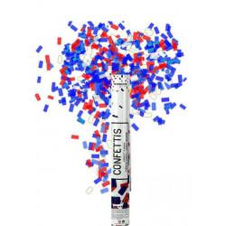 Canon à confettis bleu blanc rouge 40 cm France Déco festive 28086FR