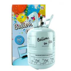 Bouteille hélium 0.25 m3 pour 30 ballons 23 cm Déco festive 36250XS