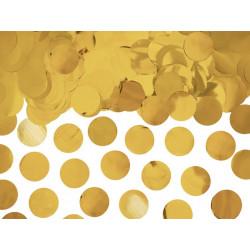 Confettis ronds Or 2.5cm 15 g Déco festive KONS45-019