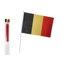 Drapeau Belgique 30x45 cm avec hampe Déco festive 000859