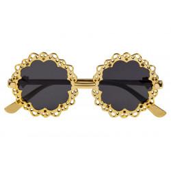 Lunettes steampunk rondes et dorées adulte Accessoires de fête 54567