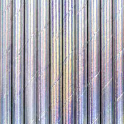 Pailles irisées x 10 Déco festive SPP9-017