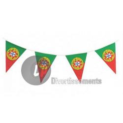 Guirlande fanions drapeau Portugal 6 m Déco festive LP00956