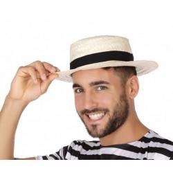 Chapeau paille naturel adulte Accessoires de fête 51038