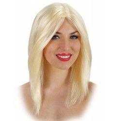 Accessoires de fête, Perruque blonde et lisse femme, 2570, 12,50€