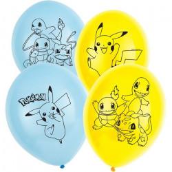 Sachet 6 ballons latex Pokémon 28 cm Déco festive 9904826