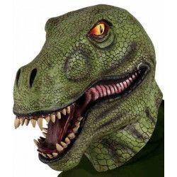 Accessoires de fête, Masque tête dinosaure adulte, 2571GUIRCA, 22,90€