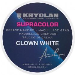 Fard gras Supracolor professionnel clown 30 g Blanc Accessoires de fête 01081
