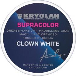 Fard gras Supracolor professionnel clown 80 g Blanc Accessoires de fête 01082