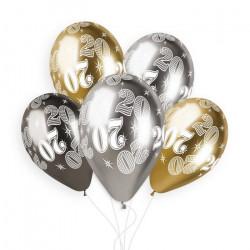 Sachet 5 ballons latex shiny 33 cm anniversaire nombre 20 Déco festive 313871