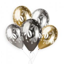 Sachet 5 ballons latex shiny 33 cm anniversaire nombre 70 Déco festive 313949