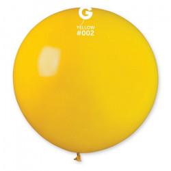 Sachet 1 ballon baudruche géant 80 cm jaune Déco festive 329728