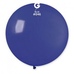 Sachet 1 ballon baudruche géant 80 cm bleu roi Déco festive 329841