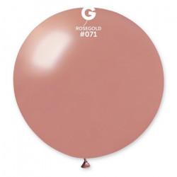 Sachet 1 ballon baudruche géant 80 cm rose gold Déco festive 340037
