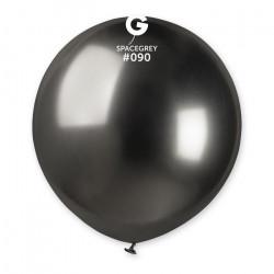 Sachet 3 ballons shiny métallisés 48 cm gris foncé Déco festive 320053