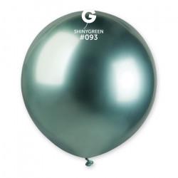 Sachet 3 ballons shiny métallisés 48 cm vert Déco festive 320084