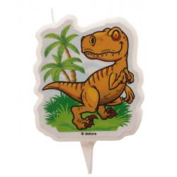 Bougie anniversaire 2D dinosaure Déco festive 345386