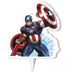 Bougie anniversaire 2D Captain America™ Avengers Déco festive 346185