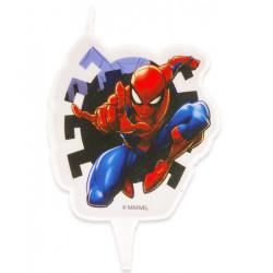Bougie anniversaire 2D Spiderman™ Déco festive 346208