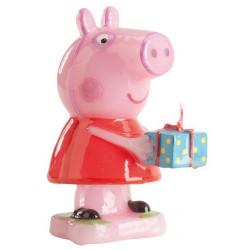 Bougie anniversaire 3D Peppa Pig™ Déco festive 346089