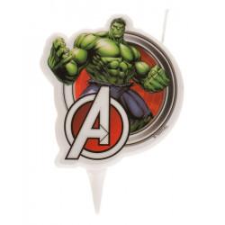 Bougie anniversaire 2D Hulk™ Déco festive 346221