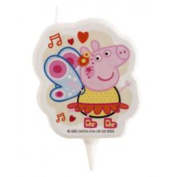Bougie anniversaire 2D Peppa Pig™ Déco festive 346233