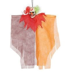 Clown diabolique à suspendre 30 cm halloween Déco festive 26028