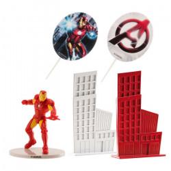 Kit décor gâteaux 8 cm Iron Man Déco festive 350140