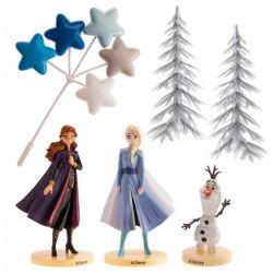 Kit décor gâteaux La Reine des Neiges 2™ Elsa Anna Olaf Déco festive 350144