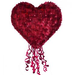 Piñata cœur rouge à tirer 40 cm Déco festive 9903122