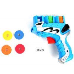 Pistolet lance disques 10 cm avec disques Jouets et articles kermesse 26076