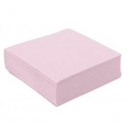 Serviettes jetables ouate gaufrées x 40 rose pastel 38 x 38 cm Déco festive SPU23838RP