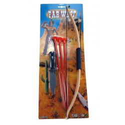 Arc indien 52 cm avec fléchettes et couteau/N/ Jouets et articles kermesse 20429MH