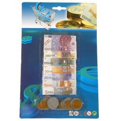 Billet euro et pièces 29x19cm Jouets et articles kermesse 35973