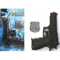 Pistolet police bruiteur avec badge Jouets et articles kermesse 26090