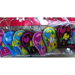 Lot 12 porte-clés coeur 6.5 cm Jouets et articles kermesse 80270-LOT