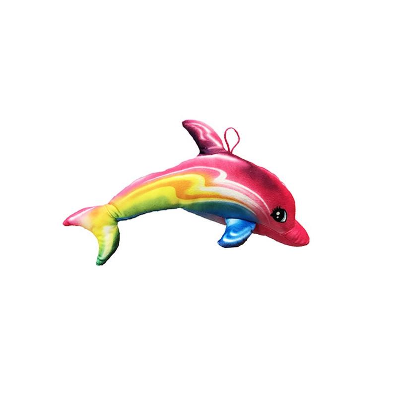 Peluche dauphin arc en ciel 35 cm Jouets et articles kermesse 4858