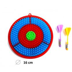 Jeu cible à picots 16 cm avec fléchettes /N/ Jouets et articles kermesse 22962