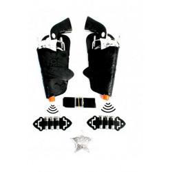Pistolets bruiteur cow boy avec accessoires 20 cm Jouets et articles kermesse 26410