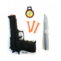 Pistolet police et accessoires 22 cm /N/ Jouets et articles kermesse 27417